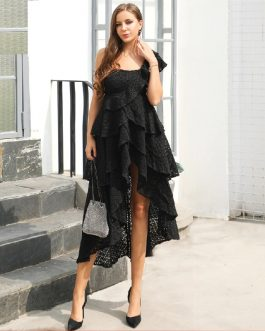 Sexy One Shoulder Lace Dresses