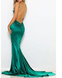 Sexy V Neck Off Shoulder Backless Maxi Dresses