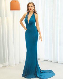 Sexy V Neck Off Shoulder Maxi Dresses