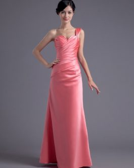 Sheath Satin Rhinestone Sweetheart Wedding Bridesmaid Dress