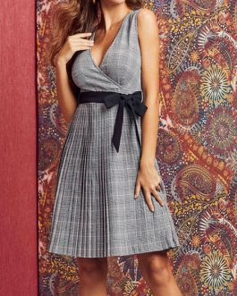 Skater Bohemian Sleeveless Fit And Flare Dress