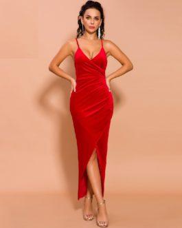 Solid Color Elegant Maxi Dress