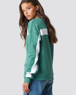 Two Tone Sports Long Sleeve Sweatshirt