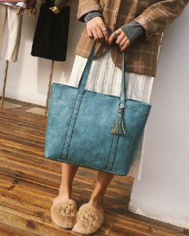 Women Tassel Large Capacity Tote Handbags Shoulder Bags