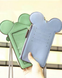 Women Touch Screen Cute Animal Shape Card Holder Phone Bag Coin Purse