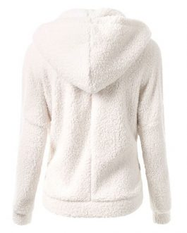 Zip Up Hoodie Teddy Bear Jacket Long Sleeve Hooded Jacket