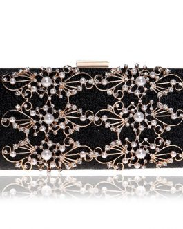 Beaded Diamonds Lady Clutch Purse