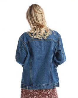 Casual Long Sleeve Cotton Washed Denim Basic Jacket