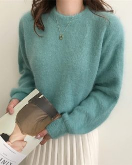 Casual Pullovers Minimalist Knitted Elegant Sweaters