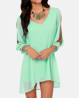 Chiffon Loose Fit Mini Dress