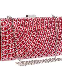 Colorful Beaded Metal Wedding Handbags