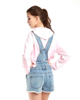 Cotton Acid Snow Casual Short Denim Dungaree