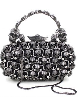 Diamond Skull Evening Clutch