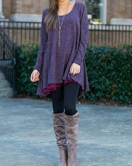 Double Layer Tunic Dress