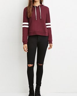 Double Stripes Casual Sweatshirt