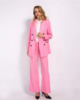Elegant Suit And Straight Cutting Pants 2 pieces Outfits