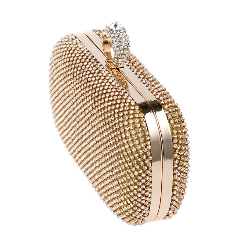 Finger Ring Diamonds Chain Shoulder Clutch 7