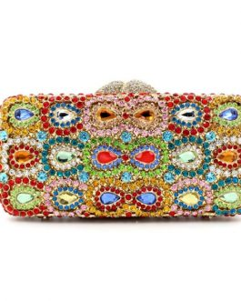 Hollow Out Crystal Clutch