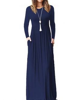 Long Sleeve Casual Attire Maxi Dress