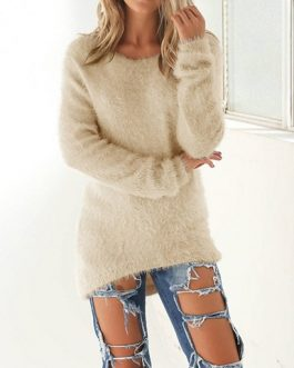 Long Sleeve Loose Fitting Sweater