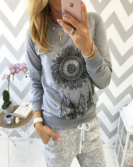 Long Sleeved Casual Blouse