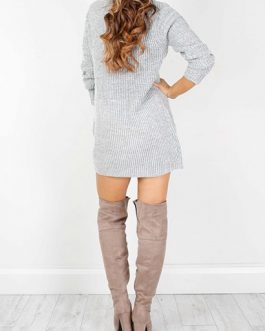 Long Sleeved Mini Sweater Dress