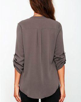 Long Sleeved V Neck Shirt