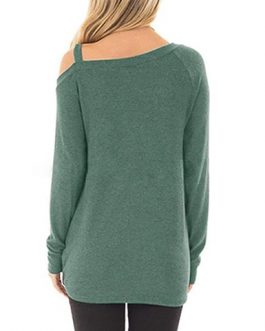 Long Sleeves Cold Shoulder Top