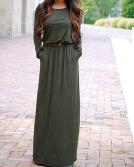 Long Sleeves Maxi Dress
