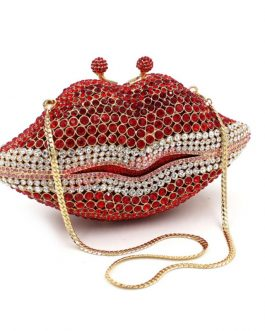 Luxury Lips Diamond Banquet Bag