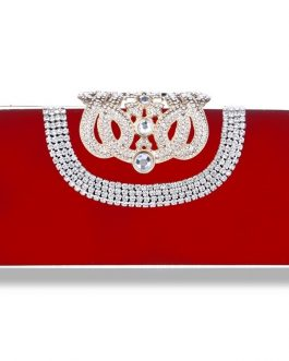 Mini Crown Metal Crystal Clutch