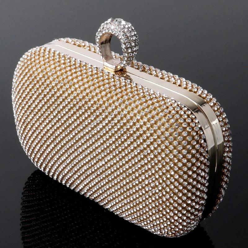 Mini Crown Metal Crystal Clutch 18