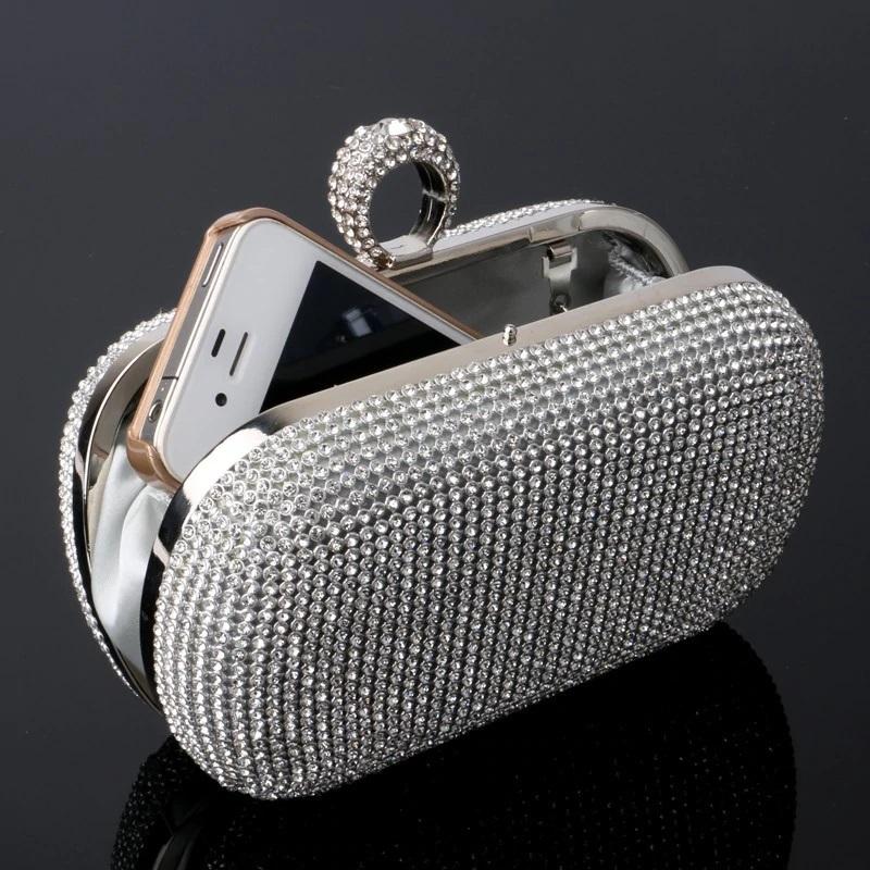Mini Crown Metal Crystal Clutch 21