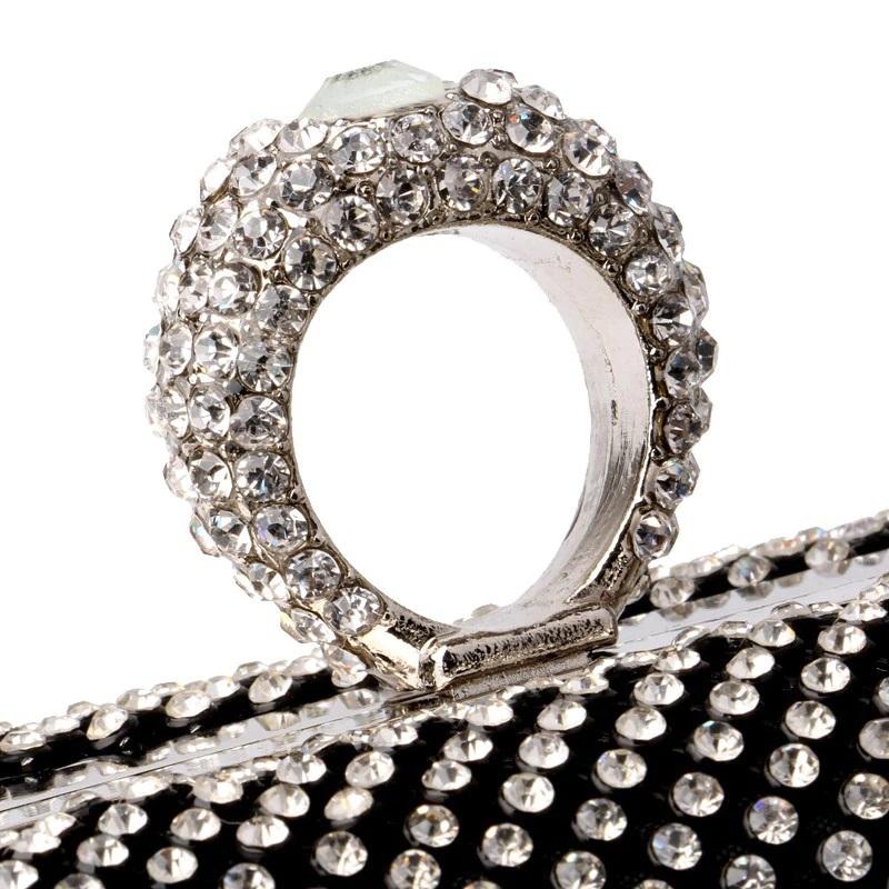 Mini Crown Metal Crystal Clutch 22