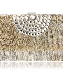 One Side Beaded Clutches Purse