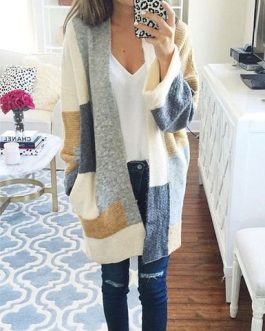Patched Cardigan