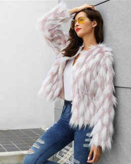 Plus Size Office Ladies Casual Street wear Teddy Coat