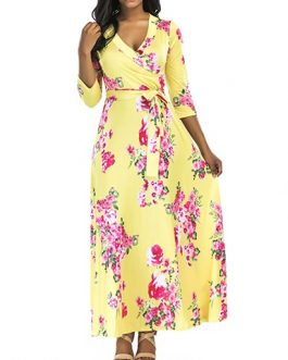 Printed Floral Pattern Maxi Length Dress