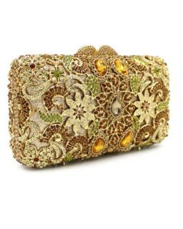 Rhinestone Flower Crystal Clutch