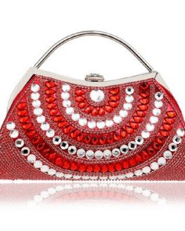 Rhinestones Lady Clutches Purse Bag