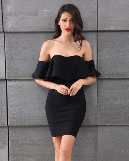Sexy Backless Butterfly Sleeve Dress