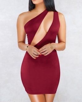 Sexy Sleeveless Acetate Backless Party Dress