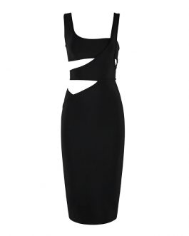 Sexy Strap Hollow Out Club Party Dress