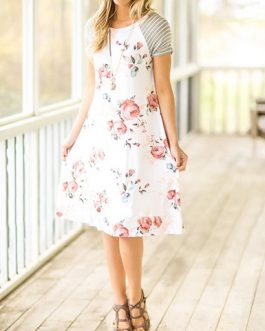 Short Sleeves Tee Shirt Style Dress