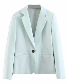 Single Button Office Lady Street wear Blazer