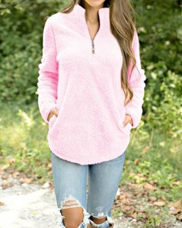 Standup Collar Pullover Sweater