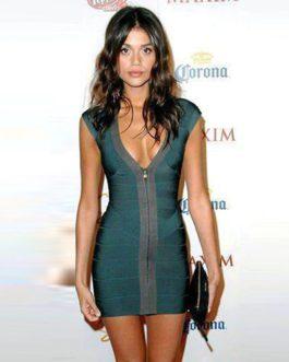 V neck Celebrity Party Sexy Dress