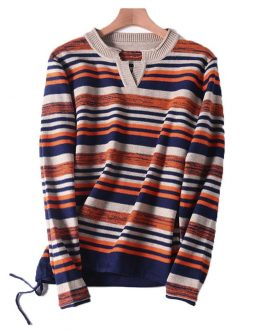 Women Yarn-dyed Stripe Sweater