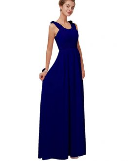A Line Floor Length Zipper Matte Satin Wedding Party Bridesmaid Dress