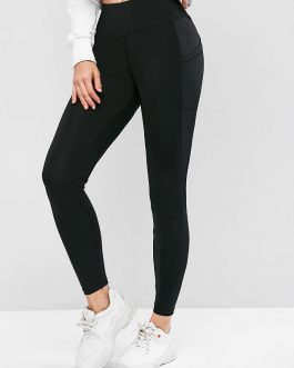 Casual Skinny Plain Stitching Sportwear Leggings